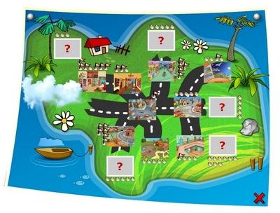 Mapa - u�atwia poruszanie si� po grze oraz informuje o �wiczeniach znajduj�cych si� w poszczeg�lnych miejscach