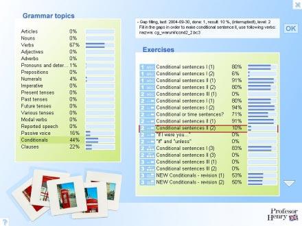 Wygodna i przejrzysta statystyka pokazuje w jakim stopniu został opanowany materiał, kiedy wykonano ćwiczenie oraz datę następnej powtórki.